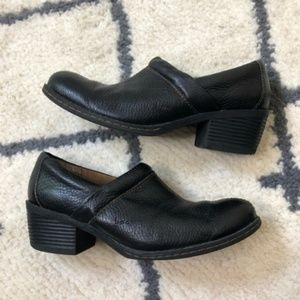 B.O.C. Black block heeled clogs